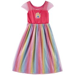 Barbie Little Girls Rainbow Sparkle Nightgown