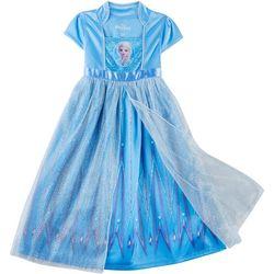 Disney Frozen II Little Girls Elsa Glitter Gown