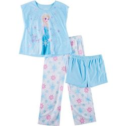 Disney Frozen Big Girls 3-pc. Ice Magic Elsa Pajama Set