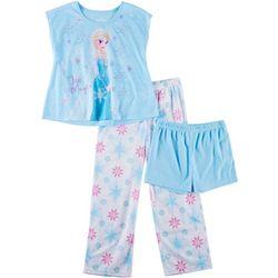 Disney Frozen Big Girls 3-pc. Ice Magic Elsa Pajama Set