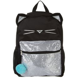 FAB Girls Sequined Cat Backpack