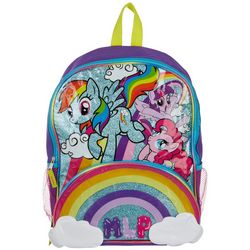 My Little Pony Girls Glitter Rainbow Backpack