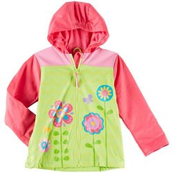 Stephen Joseph Toddler Girls Floral Raincoat