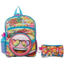 Emoji Girls 5-pc. Life Is Too Cool Backpack Set