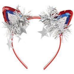 On The Verge Girls Americana Sequin Cat Ear Headband