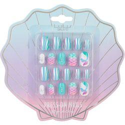 Lulu Girls 20-pc. Mermaid Press On Nail Kit
