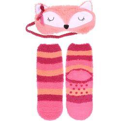 Capelli Girls 2-pc. Fox Sleep Mask & Socks Set