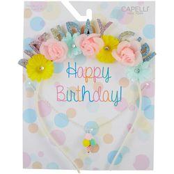 Capelli Girls 2-pc. Happy Birthday Headband & Necklace Set
