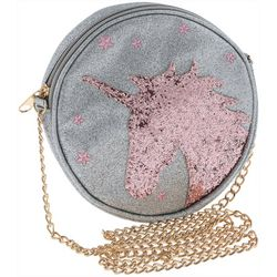 Capelli Girls Unicorn Sparkle Round Crossbody Handbag
