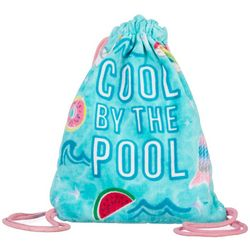 Capelli Girls Cool By The Pool Drawstring Towel Backpack