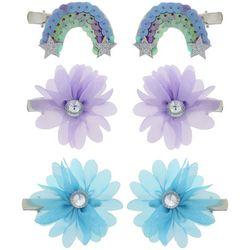 Capelli Girls 6-pk. Glitter Rainbow & Flowers Hair