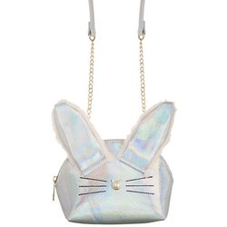 Olivia Miller Girls Holographic Bunny Crossbody Purse