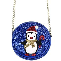 Olivia Miller Girls Festive Penguin Canteen Purse