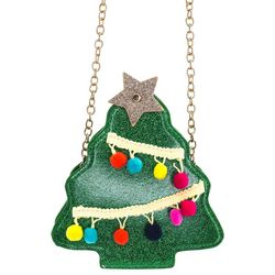 Olivia Miller Girls Embellished Holiday Tree Canteen Purse