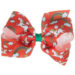 Such A Cutie Girls Santa & Unicorn Hair Bow