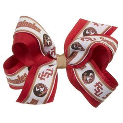Florida State Girls Double Hair Bow by Divine Creations