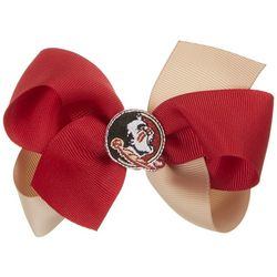 Florida State Girls Two Tone Hair Bow by Divine Creations