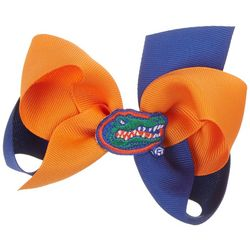 Florida Gators Girls Two Tone Hair Bow by Divine Creations