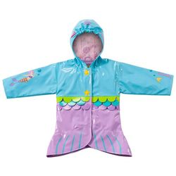 Kidorable Little Girls Mermaid Raincoat