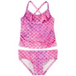 06a0ce7316 Reel Legends Toddler Girls Mermazing Tankini Swimsuit