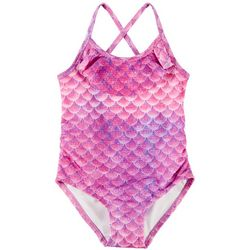 Reel Legends Toddler Girls Mermazing Flounce 1-pc. Swimsuit