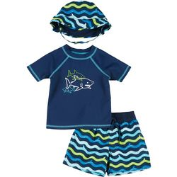 Floatimini Toddler Boys 3-pc. Shark Wave Rashguard Set