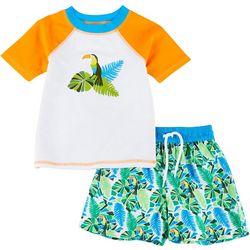Floatimini Toddler Boys 2-pc. Toucan Rashguard Set