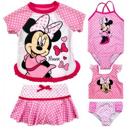 Disney Toddler Girls 5-pc. Minnie Mouse Swimsuit Set