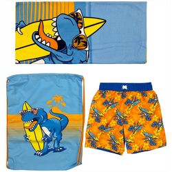 Dreamwave Toddler Boys 3-pc. Dino Swim Shorts Set