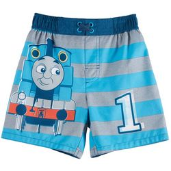 Thomas the Train Toddler Boys Striped Swim Trunks