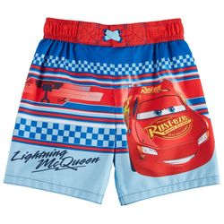 Disney Cars Toddler Boys Lightning McQueen Swim Trunks