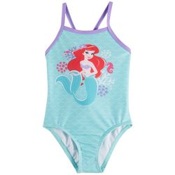 Disney Princess Toddler Girls Ariel Ruffle Swimsuit