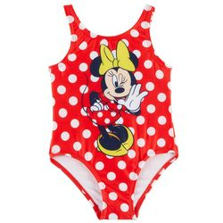 Disney Minnie Mouse Toddler Girls Polka Dot Swimsuit