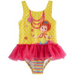 Disney Fancy Nancy Toddler Girls Dot Ruffle Tutu Swimsuit