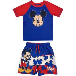 Disney Baby Boys 2-pc. Mickey Mouse Rashguard Set