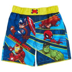 Marvel Avengers Toddler Boys Hero Up Swim Shorts