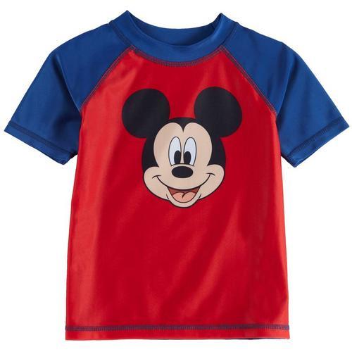 47c3bc6a Disney Mickey Mouse Toddler Boys Mickey Raglan Rashguard   Bealls Florida