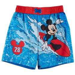 71468dd528 Disney Mickey Mouse Toddler Boys Striped M Swim Shorts