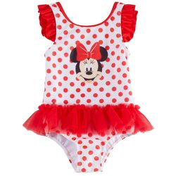 Disney Minnie Mouse Baby Girls Polka Dot Tutu Swimsuit