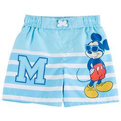 Disney Mickey Mouse Baby Boys Striped M Swim Shorts