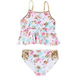 Nicole Miller New York Toddler Girls Flamingo Tank Swimsuit