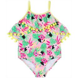 Nicole Miller New York Baby Girls Tropical Toucan Swimsuit