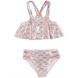 Betsy Johnson Toddler Girls 2-pc. Mermaid Scales Swimsuit