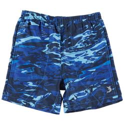 Reel Legends Toddler Boys Aqua Camo Swim Shorts
