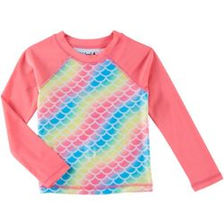 Reel Legends Toddler Girls Rainbow Long Sleeve Rashguard