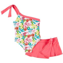 Tommy Bahama Toddler Girls Floral Swimsuit Skirt Set