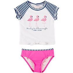 f2b00b5351 Tommy Bahama Toddler Girls Flamingle Rashguard Swimsuit