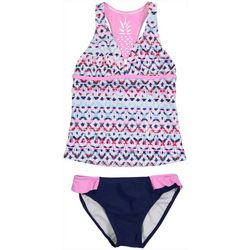 Tommy Bahama Toddler Girls 2-pc. Geo Stripe Tankini Swimsuit