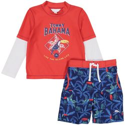 Tommy Bahama Baby Boys 2-pc. Toucan Rashguard Set
