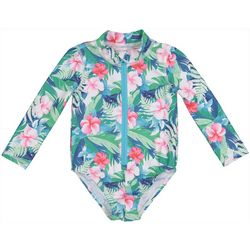 Tommy Bahama Toddler Girls Hibiscus Floral Print Rashguard